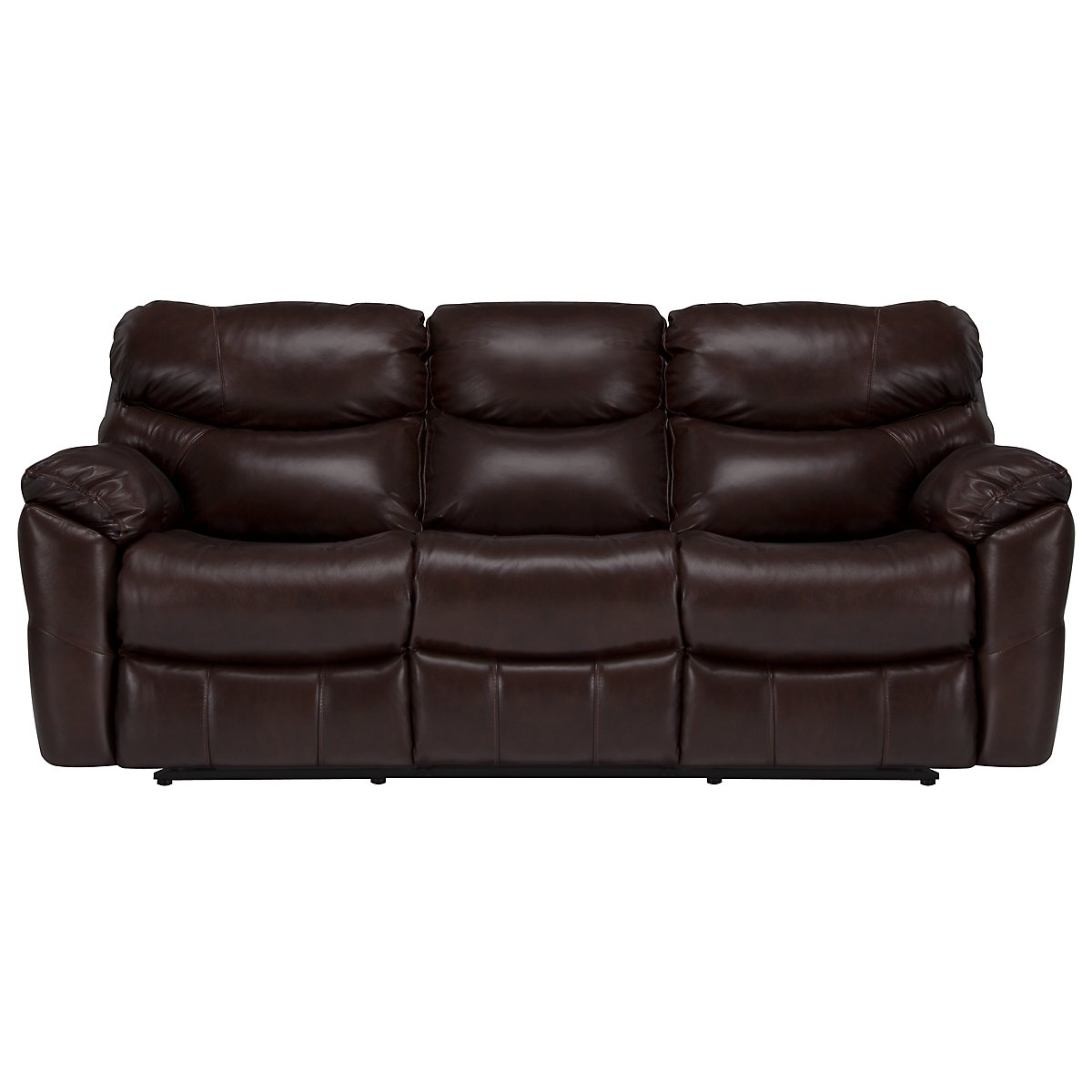 Derek Dark Brown Leather & Vinyl Reclining Sofa