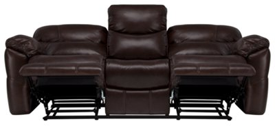 Derek Dark Brown Leather u0026 Vinyl Reclining Sofa  sc 1 st  City Furniture & derek dk brown lthr/vinyl reclining sofa islam-shia.org