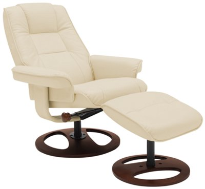 Dawson Beige Upholstered Recliner u0026 Ottoman  sc 1 st  City Furniture : chair and 1 2 recliner - islam-shia.org
