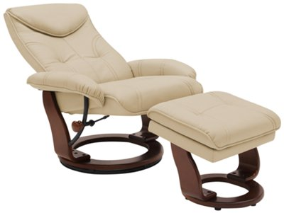Oliver Dark Beige Bonded Leather Recliner u0026 Ottoman. VIEW LARGER  sc 1 st  City Furniture : beige leather recliner - islam-shia.org