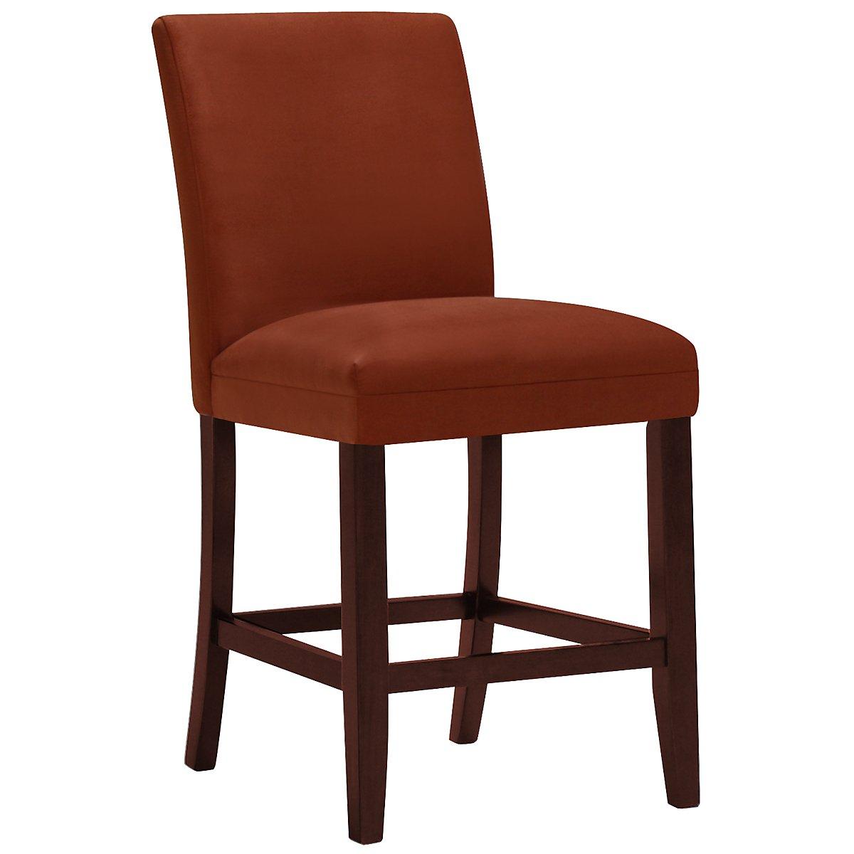 """Park Rust Microfiber 24"""" Upholstered Barstool"""