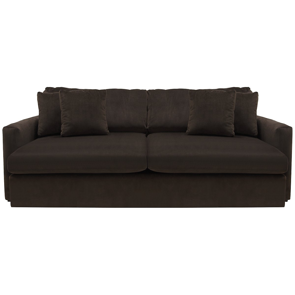 Tara2 Dark Brown Microfiber Sofa