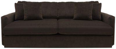 Attractive Tara2 Dark Brown Microfiber Sofa
