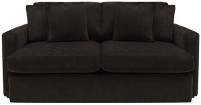 Tara2 Dark Brown Microfiber Living Room
