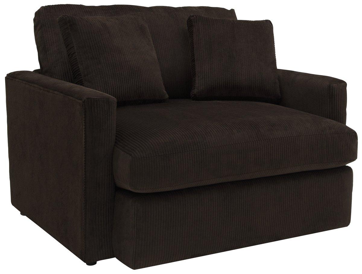 Tara2 Dark Brown Microfiber Chair