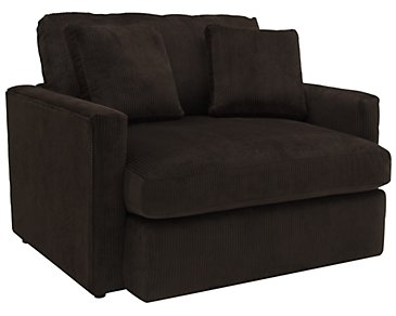 Tara2 Dark Brown Microfiber Chair