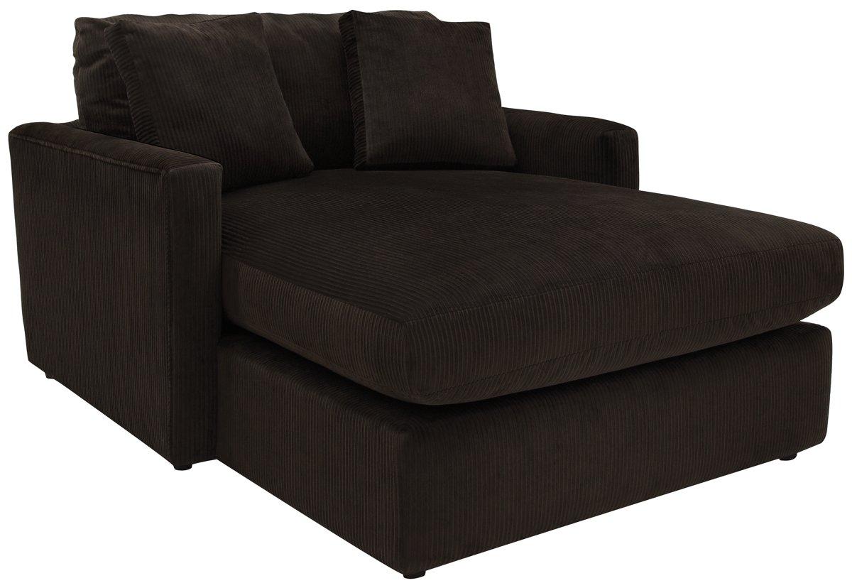 Tara2 Dark Brown Microfiber Chaise