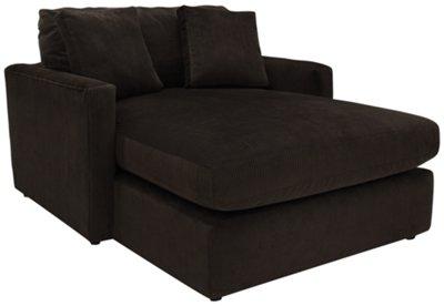 Delicieux Tara2 Dark Brown Microfiber Chaise