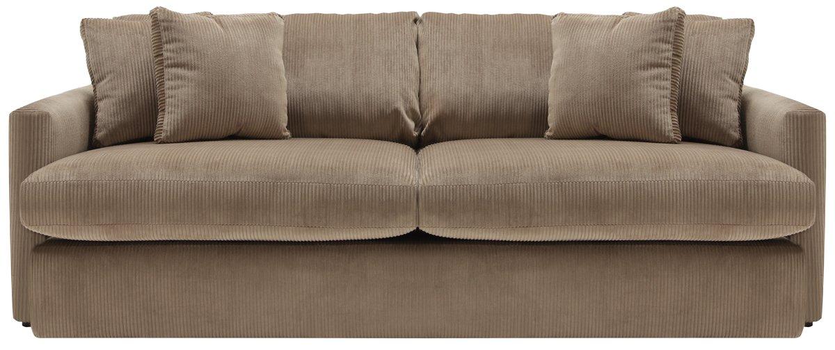 Tara2 dark taupe microfiber sofa