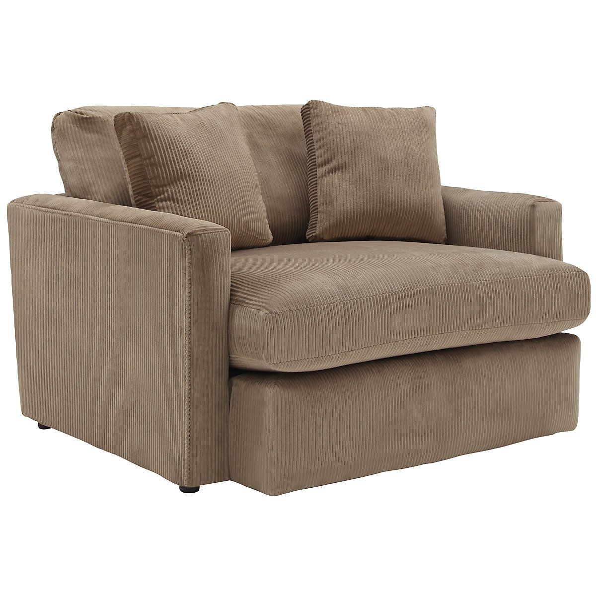 Tara2 Dark Taupe Microfiber Chair