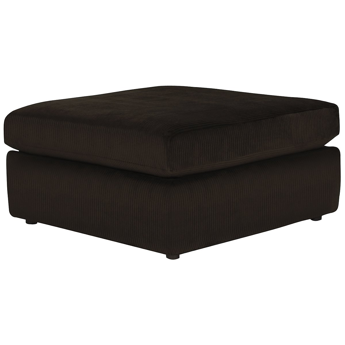 Tara2 Dark Brown Microfiber Cocktail Ottoman