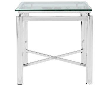 Nova Glass Square End Table