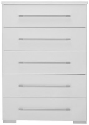 Dimora White 5 Drawer Chest