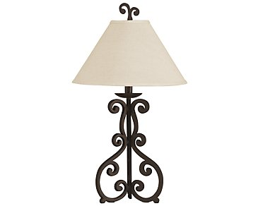 Rustic Dark Brown Table Lamp