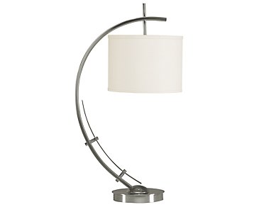 Vertigo Silver Table Lamp