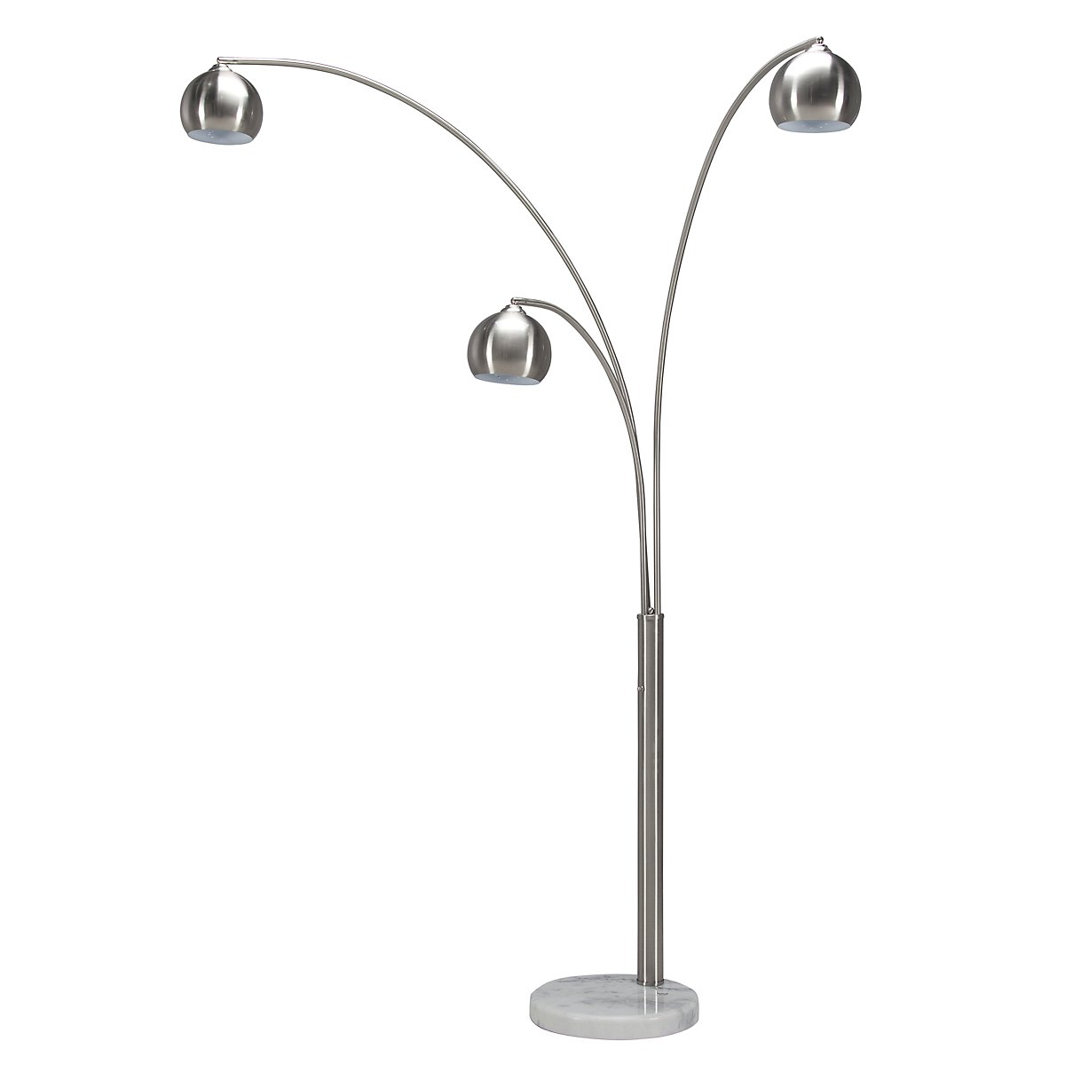 Town Silver Arc Floor Lamp