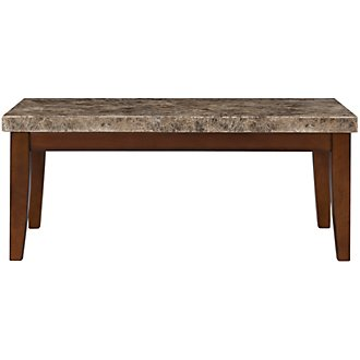 City Lights Marble Rectangular Coffee Table
