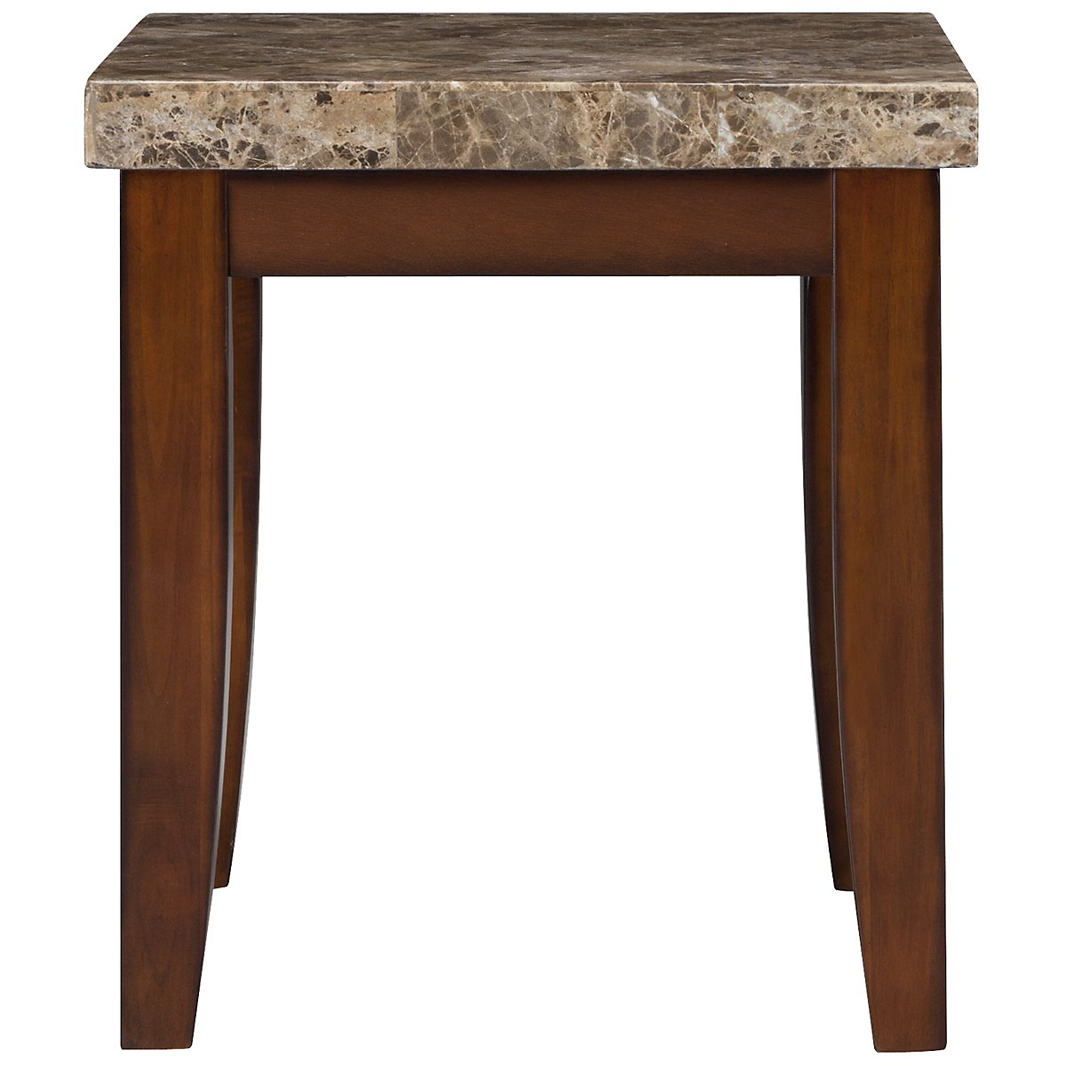 City Lights Marble Marble Rectangular End Table