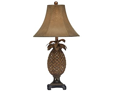 Pineapple Brown Table Lamp