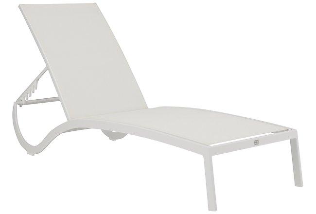 Lisbon White Sling Chaise