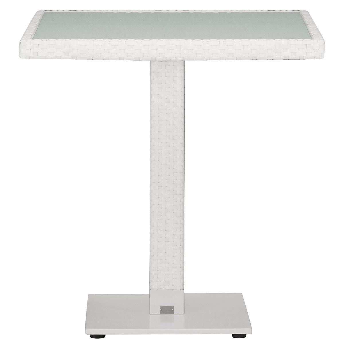 """Lisbon White 27"""" Square Table"""