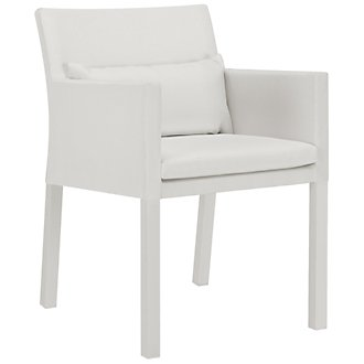 Lisbon White Cushioned Chair
