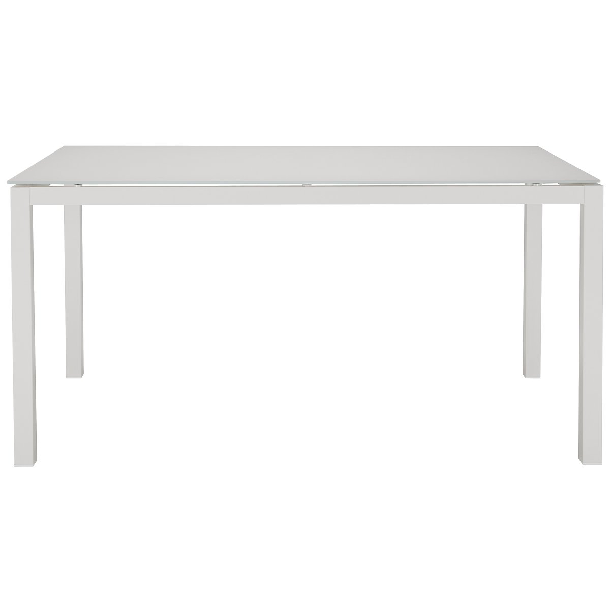 "Lisbon White 60"" Rectangular Table"