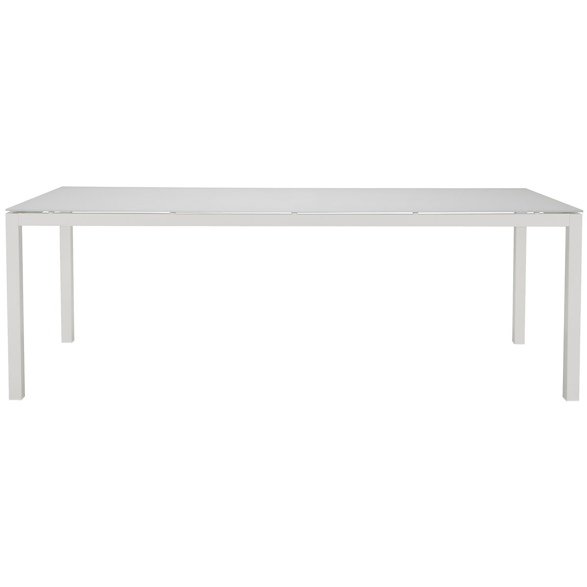 "Lisbon White 86"" Rectangular Table"