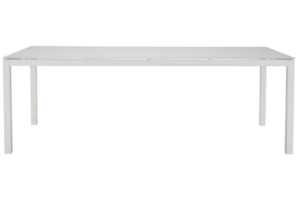 """Lisbon White 86"""" Rectangular Table"""