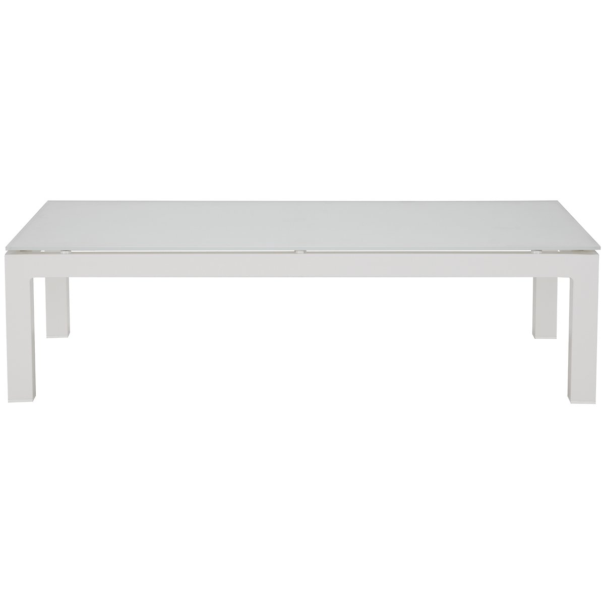 Lisbon White Rectangular Coffee Table