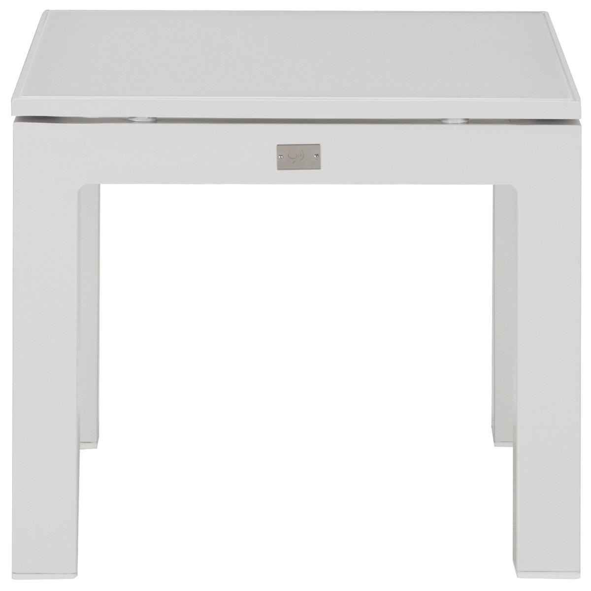 Lisbon2 White End Table