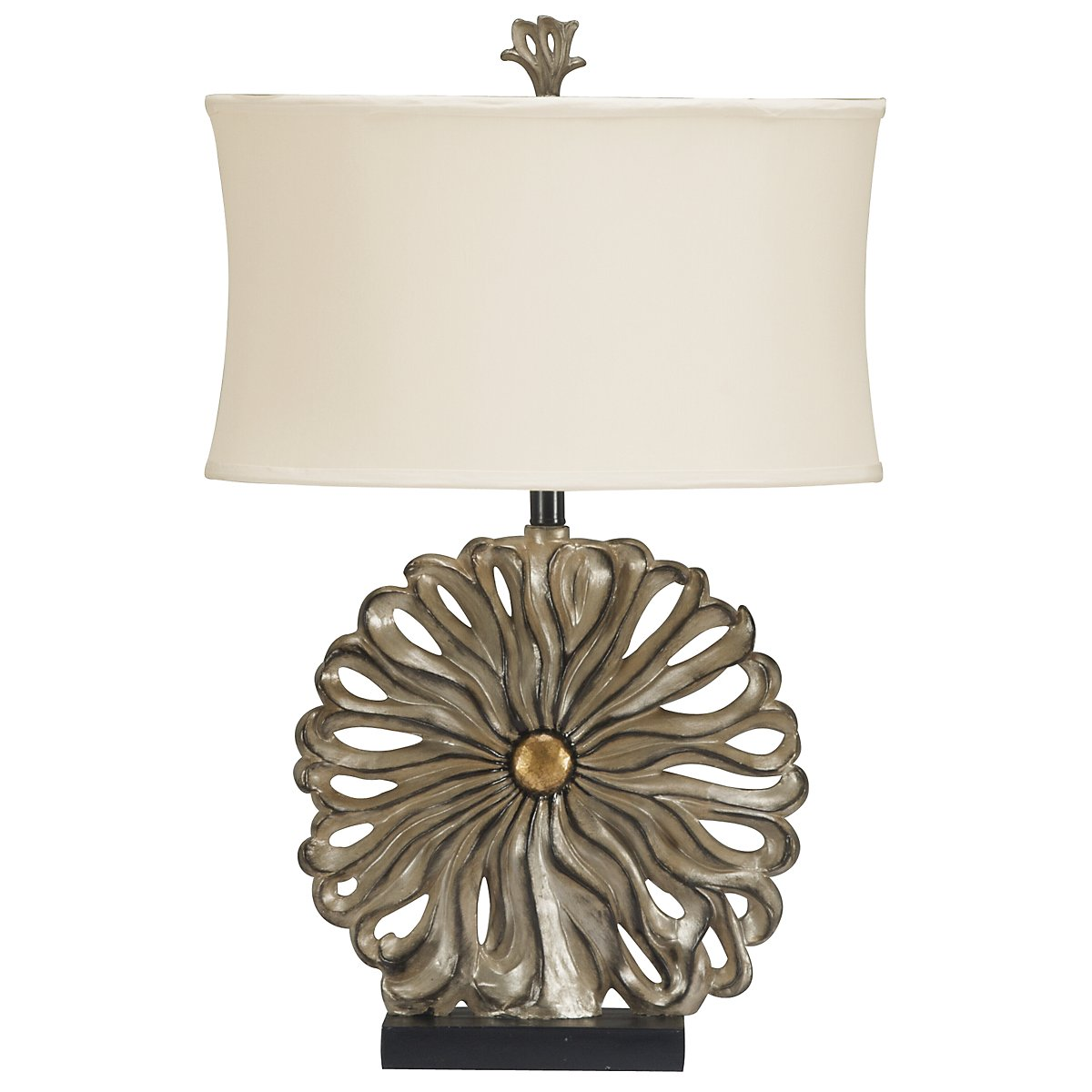 City Furniture Flower Pewter Table Lamp