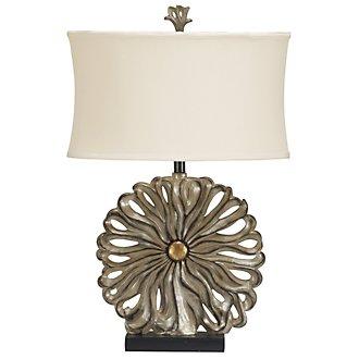 Flower Pewter Table Lamp
