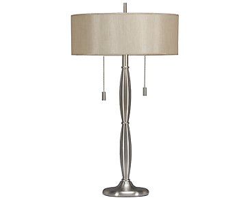 Titan Silver Table Lamp