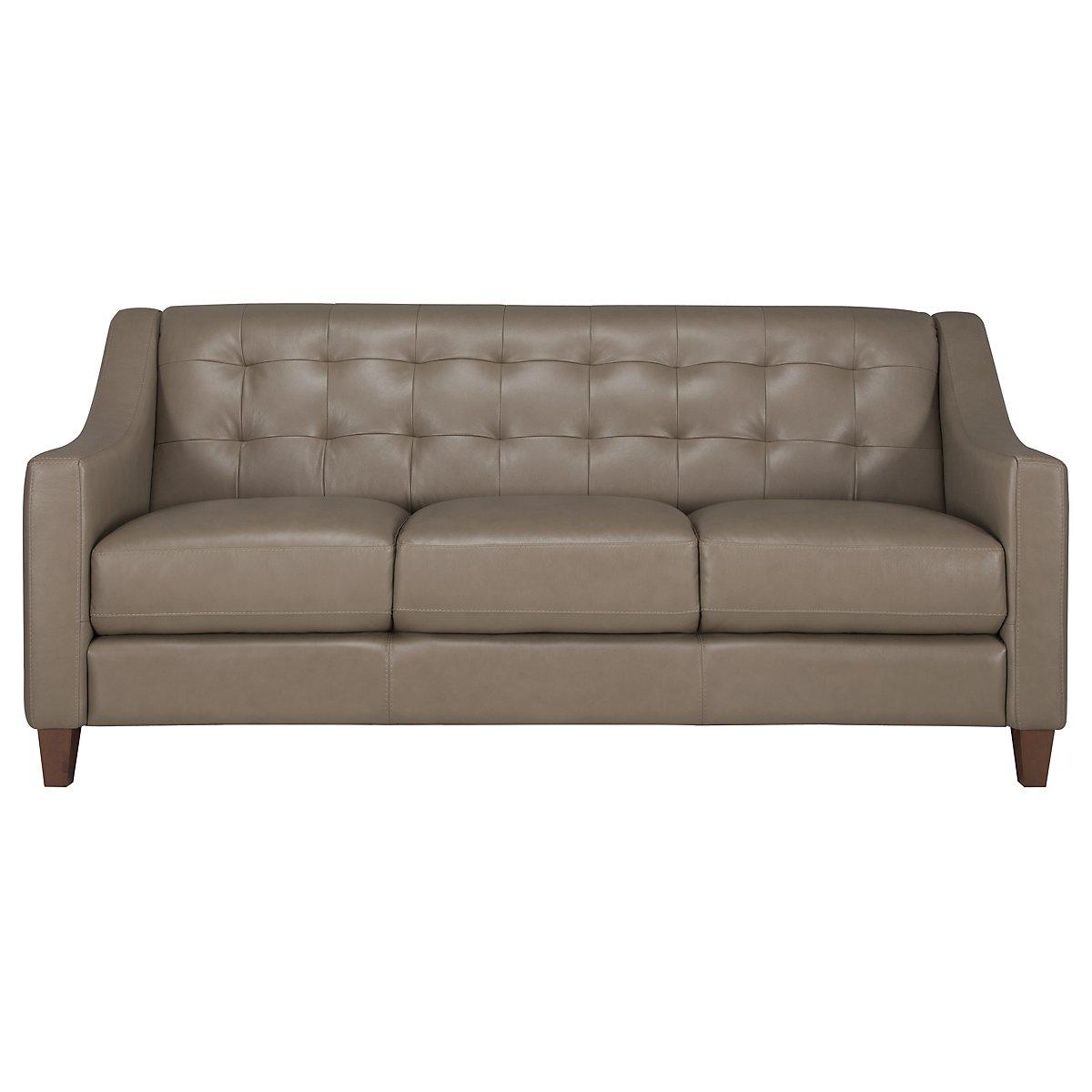 Elise Pewter Leather Sofa