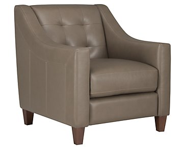 Elise Pewter Leather Chair