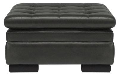 Trevor Dark Gray Leather Storage Ottoman  sc 1 st  City Furniture & City Furniture: Trevor Dark Gray Leather Storage Ottoman