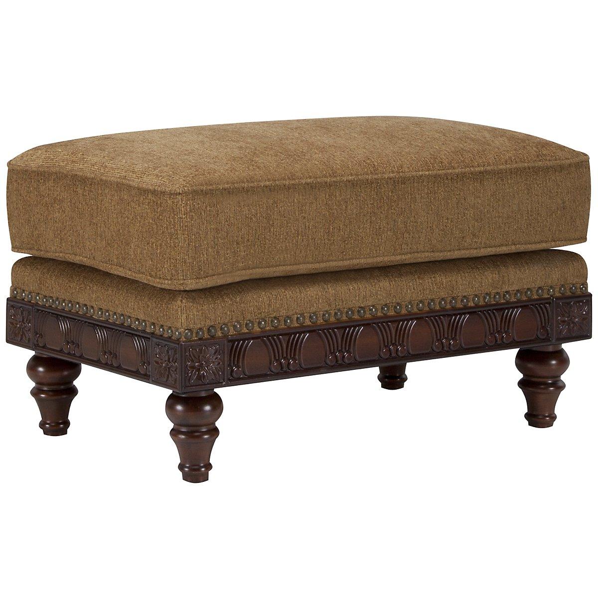 Ella Medium Brown Fabric Ottoman