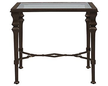 Lido Glass Square End Table