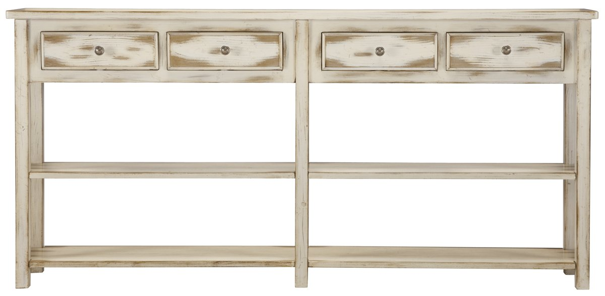 Jaida White Wood Console Table