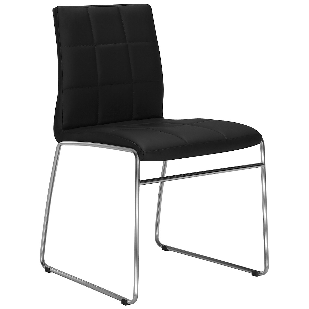 Napoli Black Upholstered Side Chair