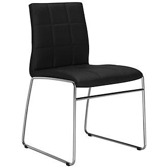 Napoli Black Upholstered Side Chair