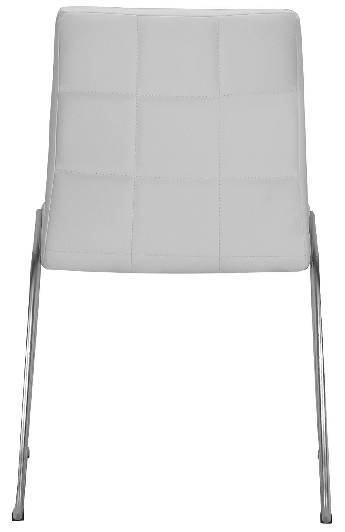 Napoli White Upholstered Side Chair