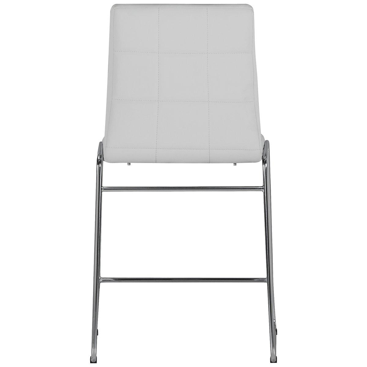 Napoli White Round High Table amp 4 Upholstered Barstools