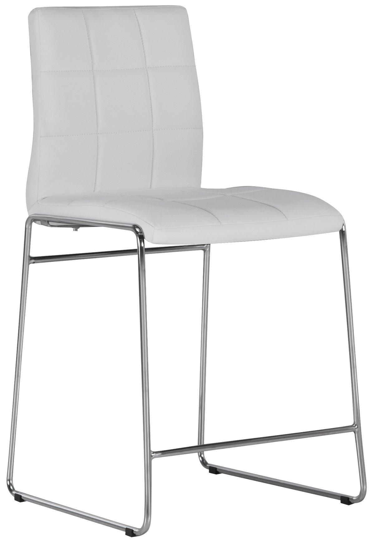 """Napoli White 24"""" Upholstered Barstool"""