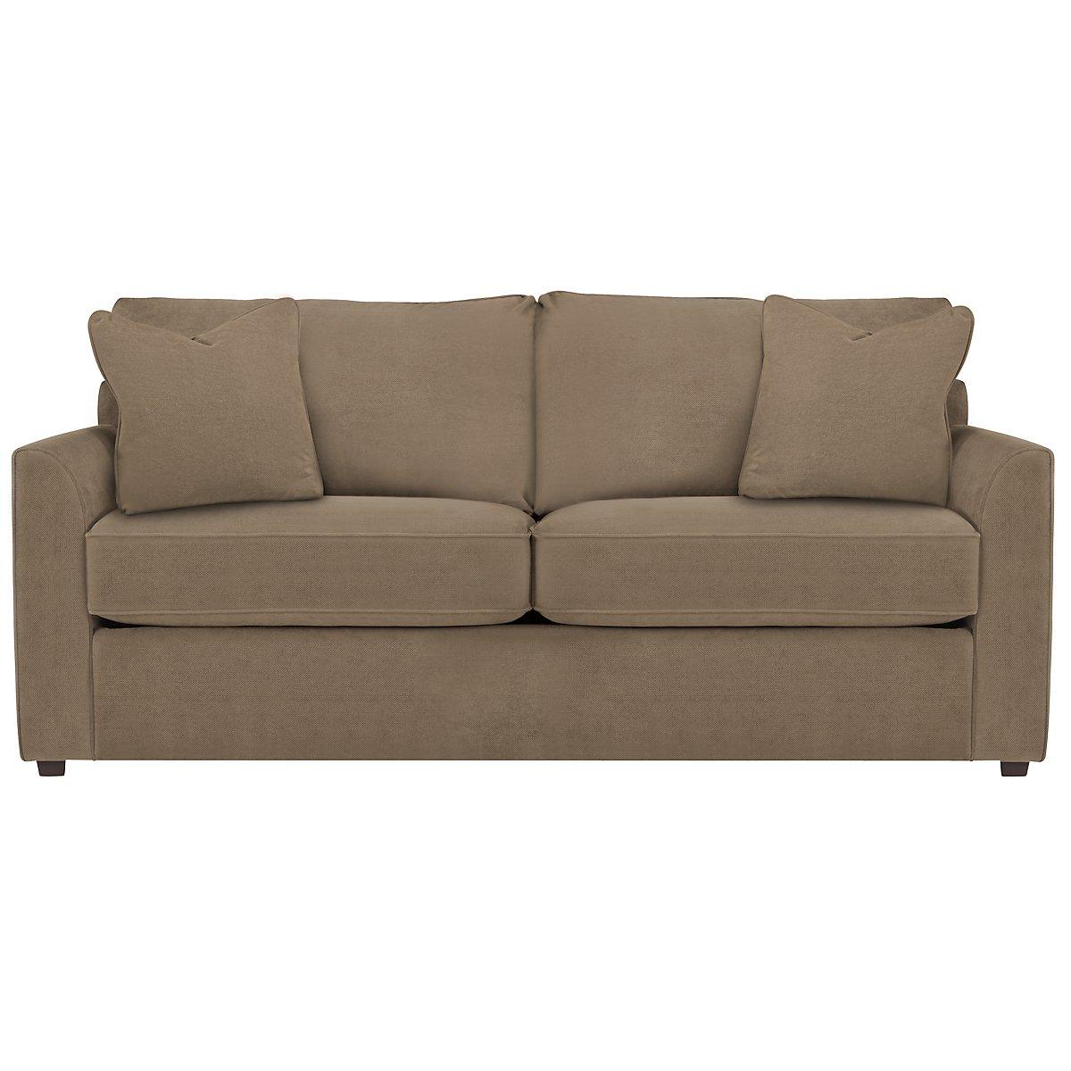 Express3 Light Brown Microfiber Sofa