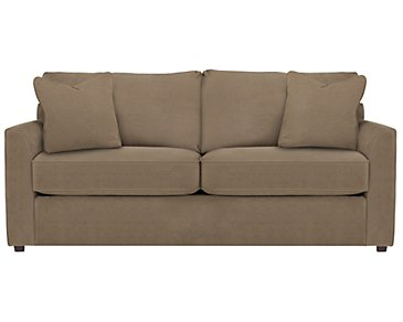 Express3 Light Brown Microfiber Sofa