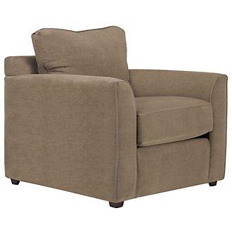 Express3 Light Brown Microfiber Chair
