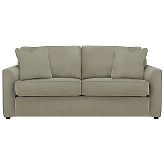Express3 Light Green Microfiber Sofa