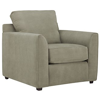 Express3 Light Green Microfiber Chair